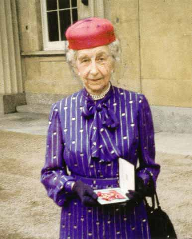 Marguerite with her OBE (Click on Picture to View Full Size)